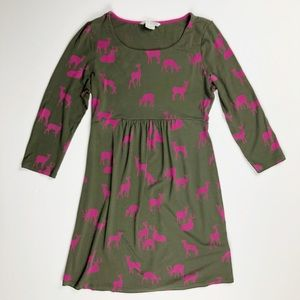 Boden Deer Family Holiday Dress 6P